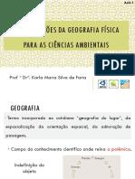 Contribuições Da Geografia Física Para as Ciências Ambientais_2021_Aula 01