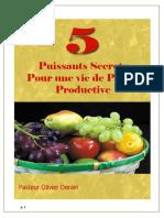 5 Puissants Secrets d Une Vie de Prière Productive Olivier D