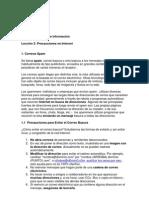 Búsqueda de información-Precauciones en Internet