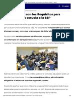 Cuales son los Requisitos Para Incorporar una Escuela a la SEP ▷【2021 】