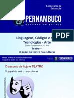 TEATRO - O Papel Do Teatro Nas Culturas