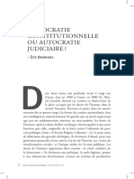 Desmons-Democratie constitutionnelle ou Autocratie Judiciaire