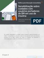 Plano de Educação Comunitária Cuidados com pacientes portadores de DM em uso de insulina (1)