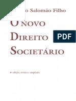 Calixto Salotnão Filho ÜNOVO DIREITO. SociETÁRio. _ Edição, Revista e Ampliada