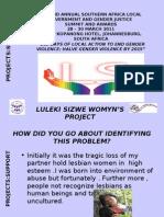 SUPPORT_ Luleki Sizwe Women's Project_26032011
