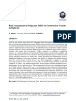 UNITEN ICCBT 08 Risk Management in Design and Builds on Construction Projects in Malaysia