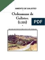 ORDENANZAS MUNICIPALES DE GALISTEO (1.531)
