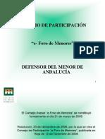 Presentación e-foro de Defensor Menor Andalucia en Congreso Educación de Calidad e Inclusiva