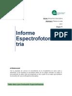 Informe de Espectrofotometría