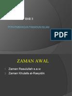 BAB 3 Perkembangan Tamadun Islam