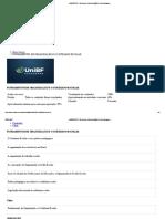 PROVA UNIBF FUNDAMENTOS DE ORGANIZAÇÃO ESCOLAR
