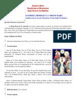 TRIDUO A LA SANTÍSIMA TRINIDAD Y LA VIRGEN MARÍA