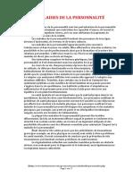 LES MALADIES DE LA PERSONNALITE (17 pages - 180 ko)