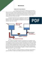 Tensión eléctrica, elementos del circuito eléctrico.