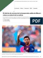 El detrás de escena de la inesperada salida de Messi del Barcelona_ cómo se enteró de la noticia - Infobae