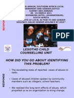 Response Lesotho Child Counselling Unit Mm 270311