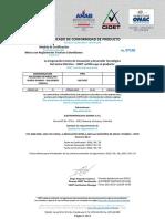 Certificado Aislador Line Post