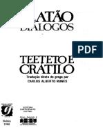 Teeteto e Crátilo - Platão