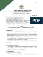 RESUMO - EQUAÇÕES DE MAXUEL E MAGNETISMO DA MATÉRIA