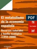 Carpintero metabolismo España