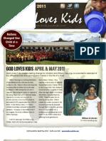 God Loves Kids  May/June newsletter