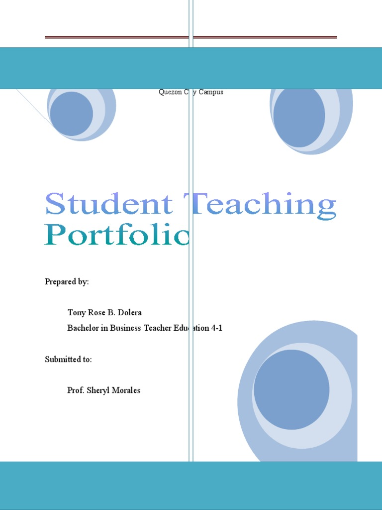 professional teaching portfolio template - student teaching teachers mentorship