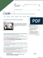 (DGCCRF - La loi ESSOC dans vos relations avec la DGCCRF _ Le portail des ministères économiques et financiers)