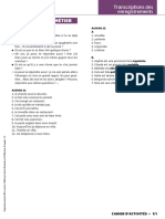 Transcriptions des enregistrements - CAHIER D'ACTIVITÉS 2