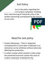 Economics - Exit Policy