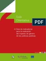 UE Guía de Indicadores Para La Evaluacion Del Impacto de Genero de Las Politicas Publicas