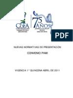 Nuevas Normativas de Presentación PAMI