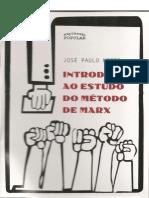 NETTO, José Paulo. Introdução Ao Método de Marx.