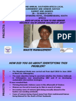 PROJECTS Presentation _ Response_Chitungwiza_Clara Makwara
