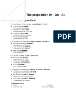 Lesson 08 - The Preposition in - On - At