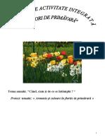 Proiect de activitate integrata - Flori de primăvară