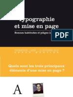 Typographie et mise en page