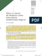GERMER, Claus - Marx e a Teoria Do Dinheiro Como Mercadoria