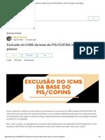 Exclusão Do ICMS Da Base Do PIS_COFINS No SAP Em 3 Passos