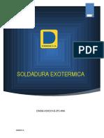 DMM-020219-E-PO-006 SOLDADURA EXOTERMICA