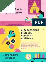 Rosa Amarillo y Turquesa Ilustrativo Valores Rutina para el Aprendizaje en Casa Educación Presentación