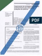 NBR 8036 - Programação de Sondagens de Simples Reconhecimento Dos Solos Para Fundação de Edifícios