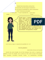 Simulado de Língua Portuguesa 7º ano do Fundamental