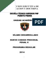 Silabo Del Nuevo Codigo Procesal Penal II 2014 (1)