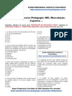 39. Questões Concurso Pedagogia_ IMC, Musculação, Capoeira ...