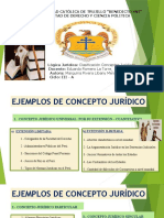 EJEMPLOS CLASIFICACIÓN CONCEPTOS JURÍDICOS