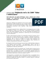 """Units per Valéncia vol a la CAM """"líder i valenciana"""""""