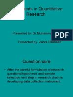 Instruments in Quantitative Research