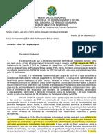 Ofício Circular Nº 18, De 28 de Julho de 2021 - SEDS-SENARC-DeBEN-CGCOP-MC (Implantação Do Sibec V2)