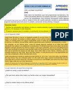 ACTIVIDAD DE PERSONAL SOCIAL JUEVES 15 DE OCTUBRE SEM 28