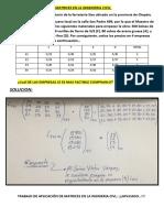 Ejercicio de Aplicación de Matrices en La Ingenieria Civil